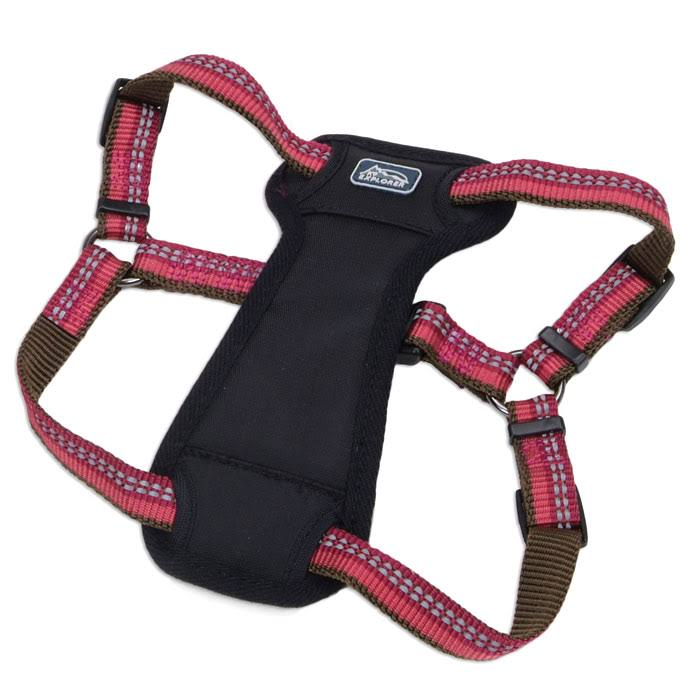 K9 Explorer Reflective Dog Harness - Berry Red