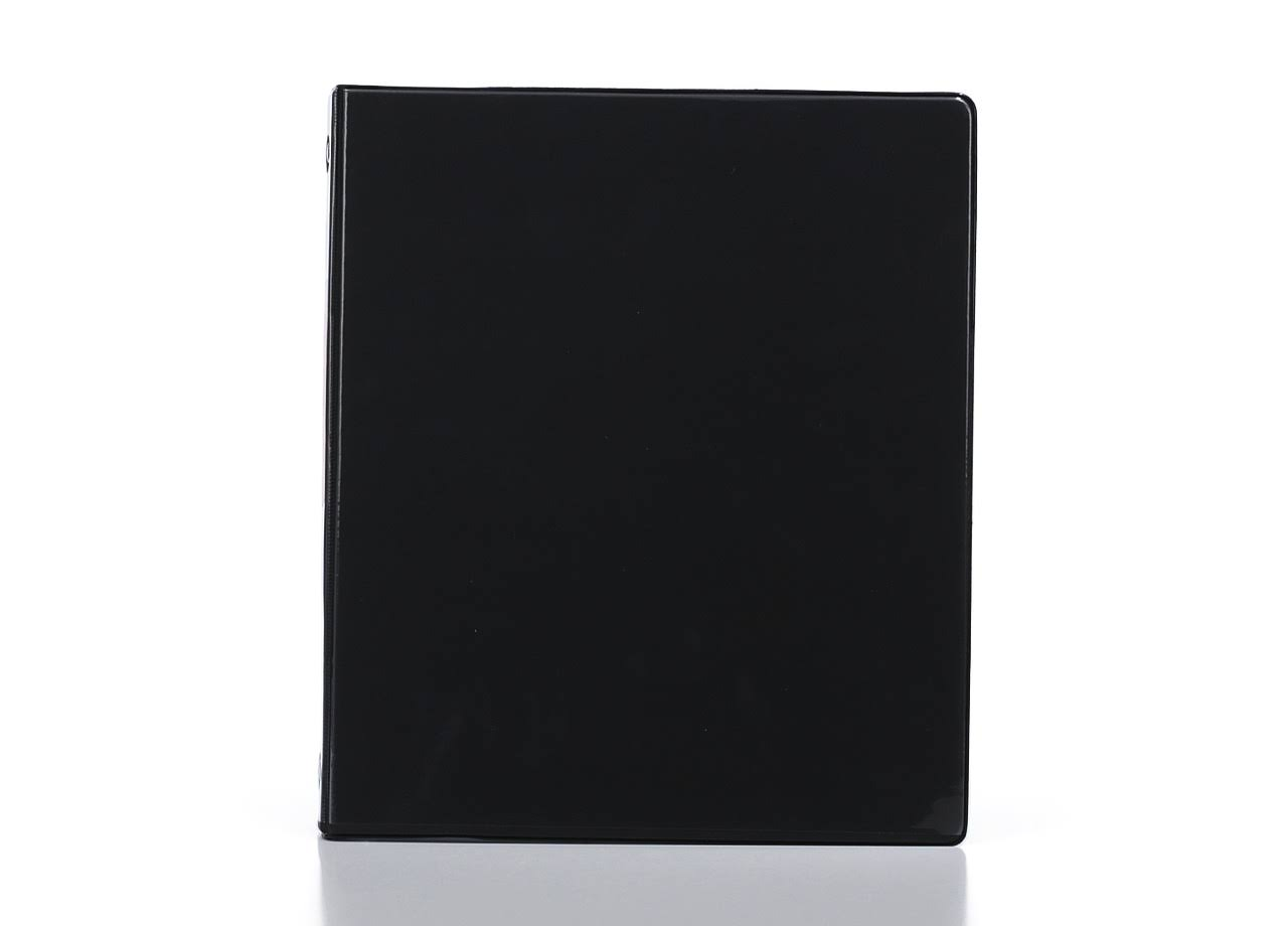 "Bazic Products 3141-12 3-Ring View Binder - with 2 Pockets , .5"", Black"