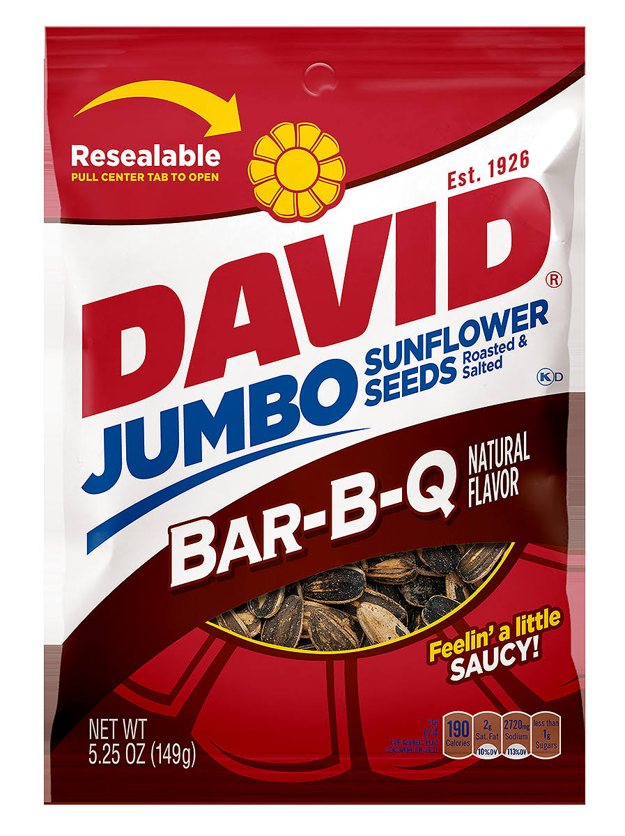 David Seeds Jumbo Sunflower Seeds - Barbeque Flavor, 5.25oz