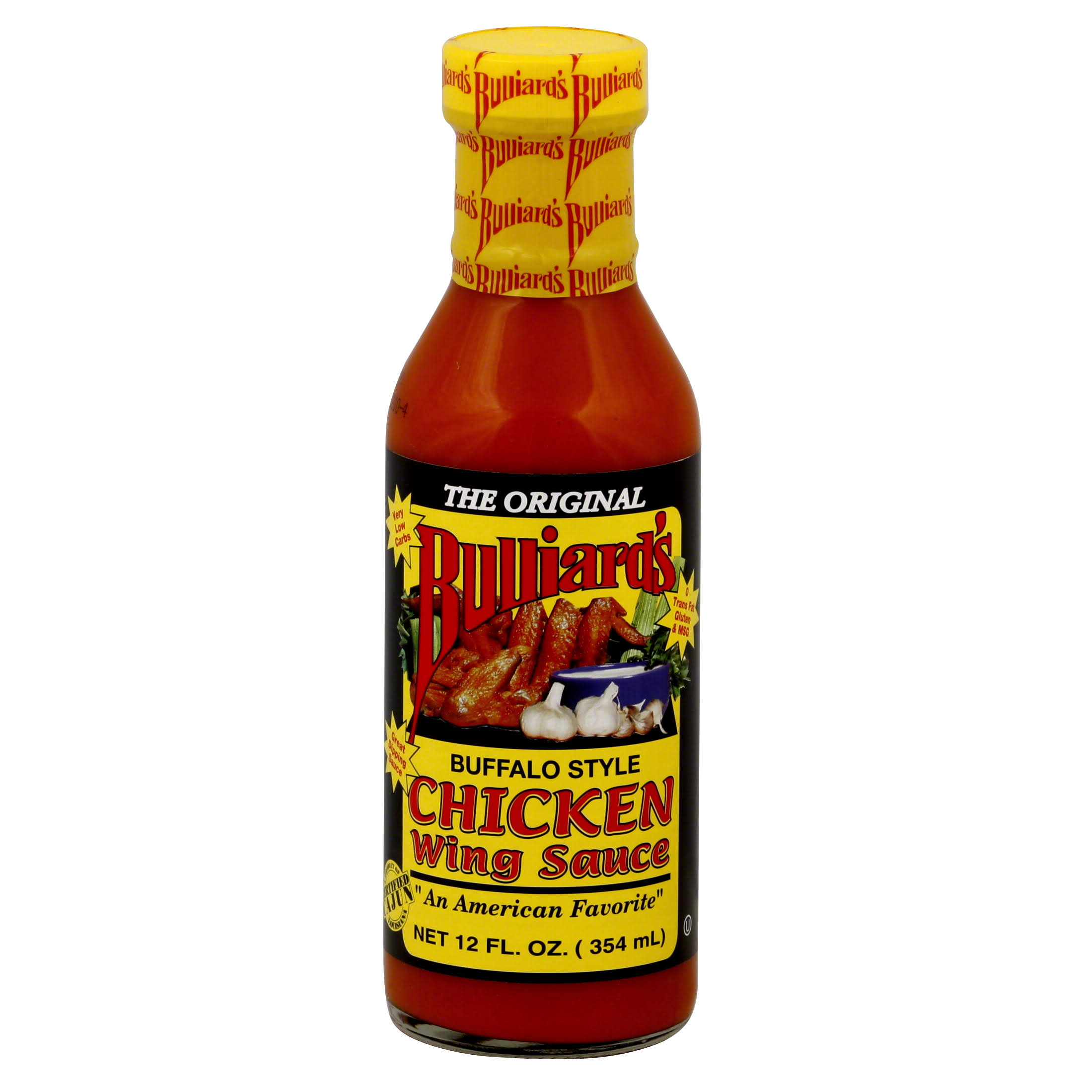 Bulliards Sauce, Chicken Wing, Buffalo Style - 12 fl oz