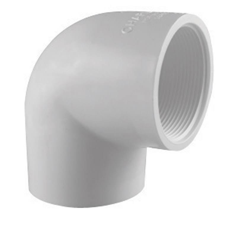 "Charlotte Pipe PVC 90 Degree Elbow - 1"", White"