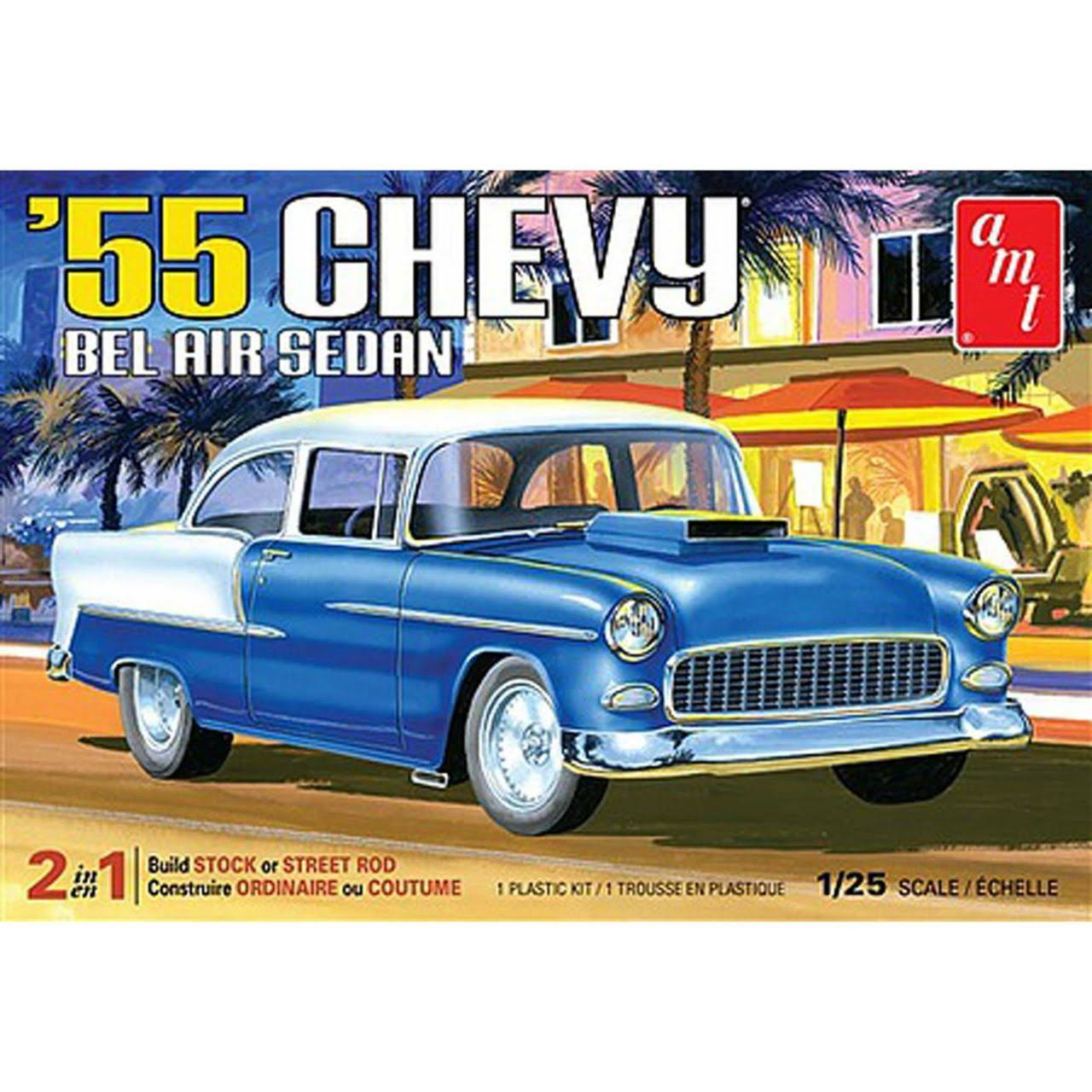 AMT 1955 Chevy Bel Air Sedan Plastic Model Kit - 1/25 Scale