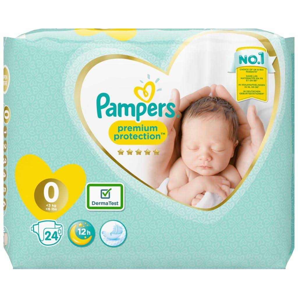 Pampers New Baby - Size 0 Carry Pack 24 Nappies
