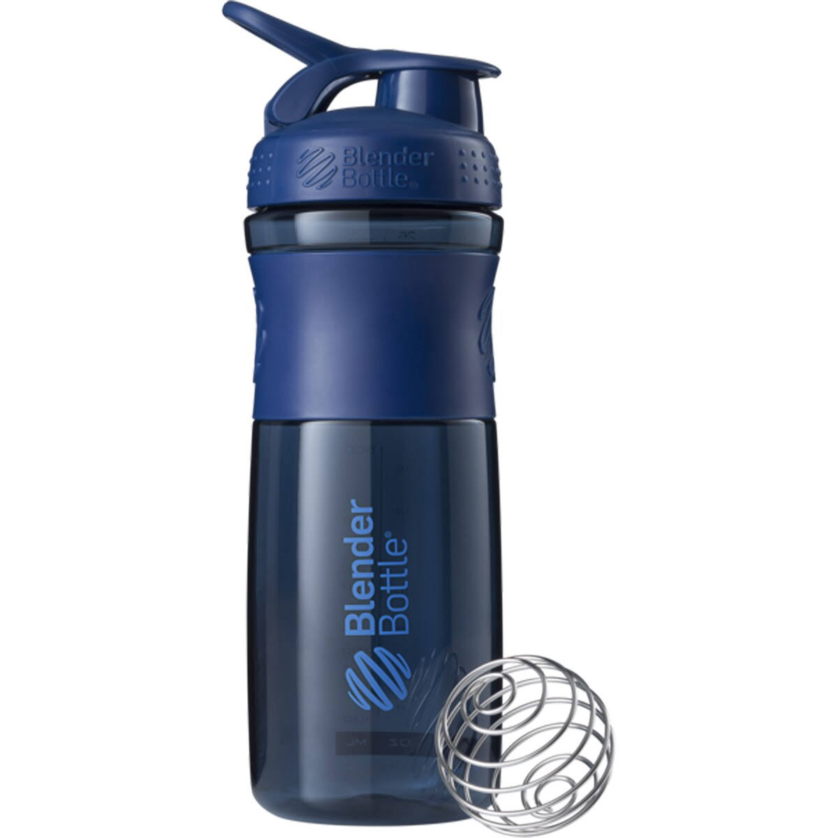 Blender Bottle Sport Mixer Protein Shaker Cup - Navy Blue, 28oz