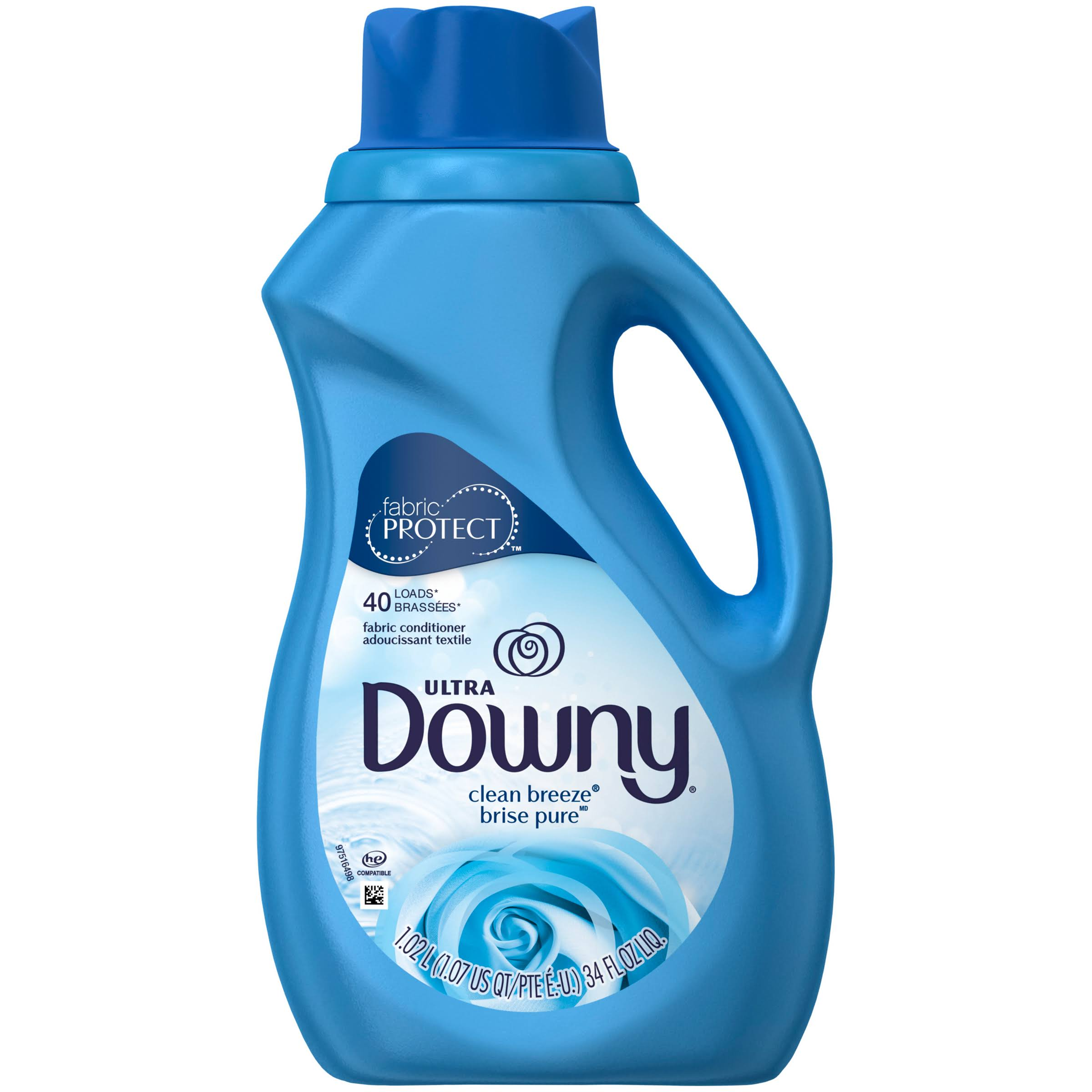 Downy Ultra Liquid Fabric Softener - Clean Breeze