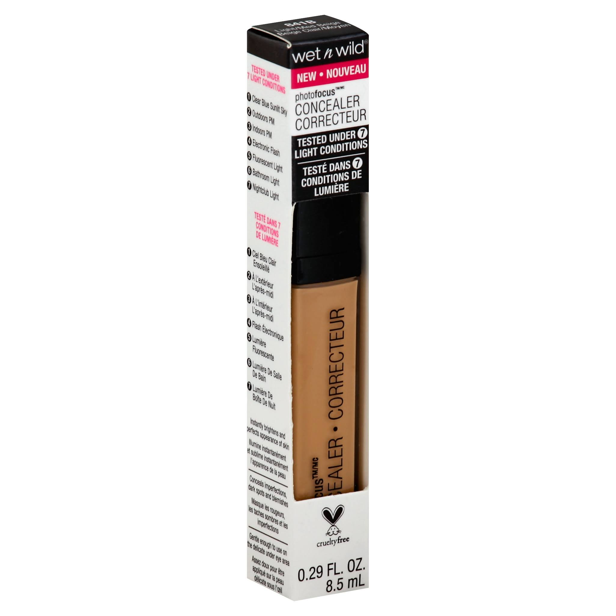 Wet N Wild Photo Focus Concealer - Light and Medium Beige 841B