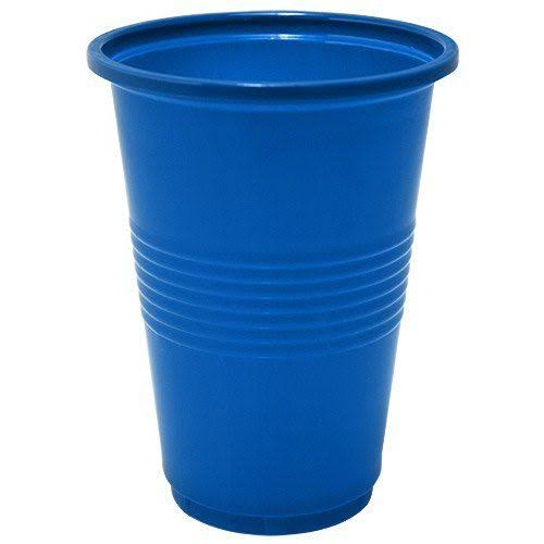Nicole Home Collection 50 Count Plastic Cup 16-Ounce Blue