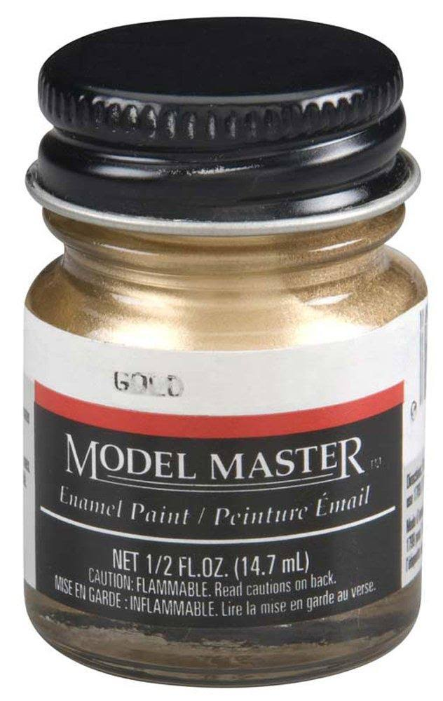 Testor 1744 Model Master Enamel Paint - Gold, 14.7ml