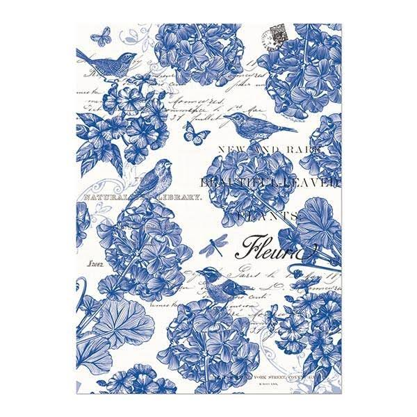 Michel Design Works Cotton Kitchen Dish Towel - Indigo Cotton