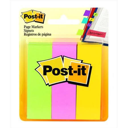 "Post-it Page Markers - 1""x3"", 100 Sheets"