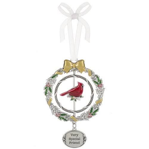 "Ganz Very Special Friend Christmas Cardinal 3D 4 3/8"" Christmas Ornament"