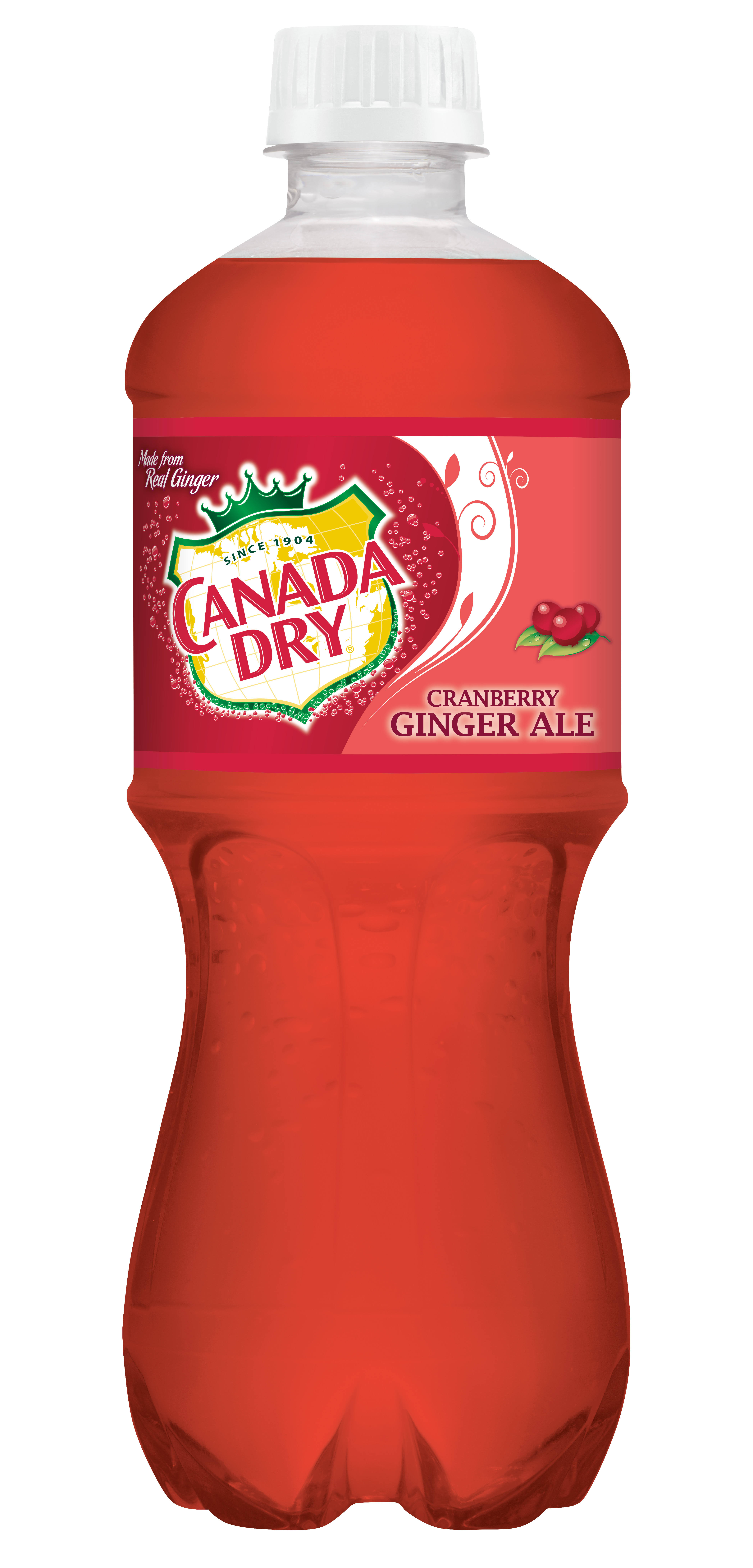 Canada Dry Ginger Ale - Cranberry, 20oz