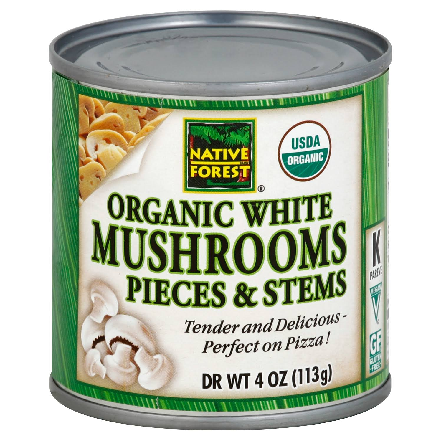 Native Forest Organic Mushrooms - Pieces and Stems, 7oz