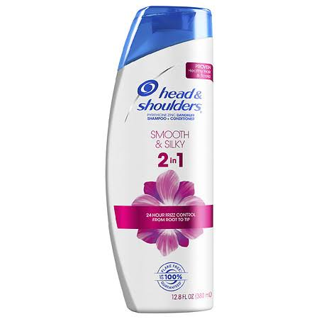Head & Shoulders Shampoo + Conditioner, Dandruff, Advanced 2 in 1, Smooth & Silky - 12.8 fl oz