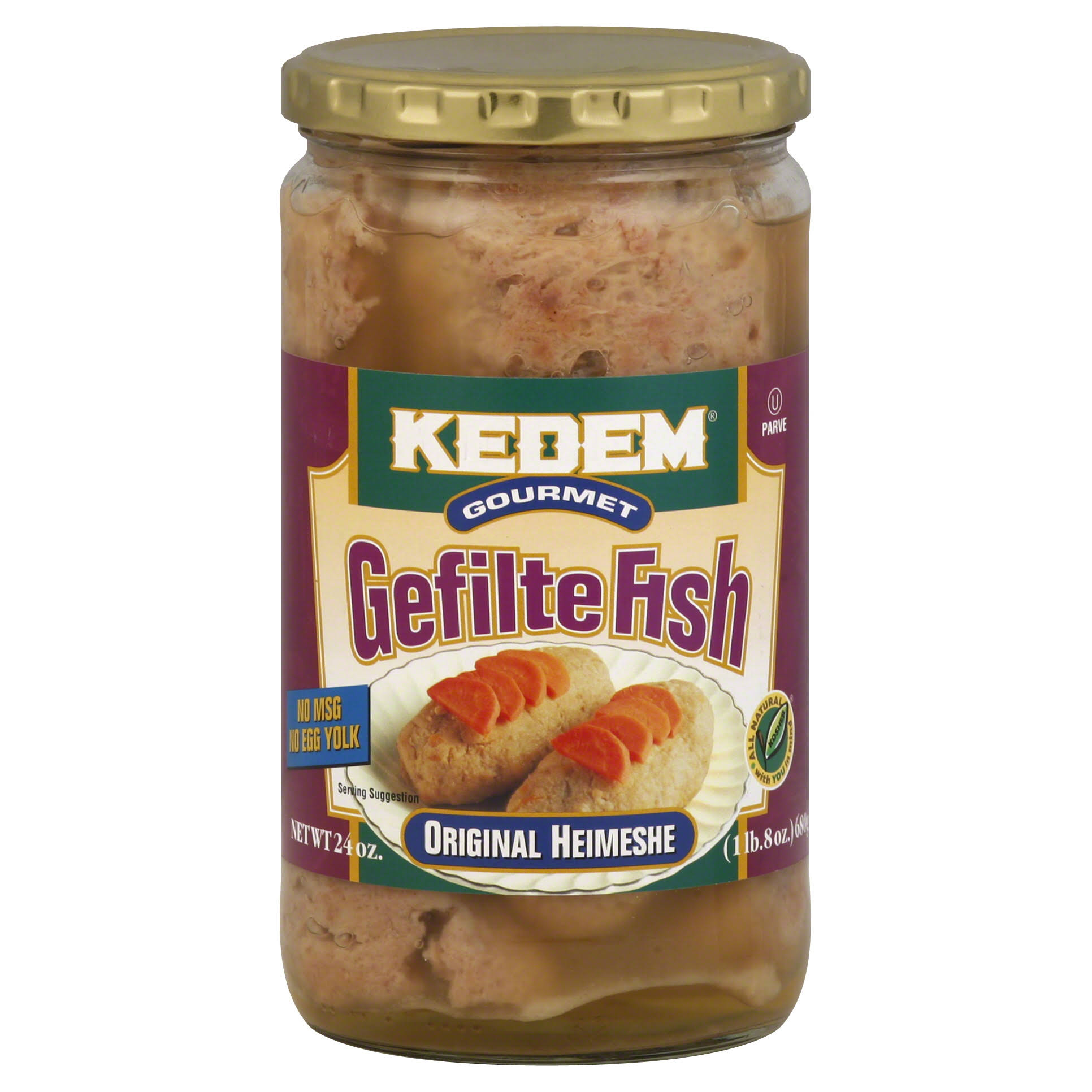 Kedem Gefilte Fish Original Heimeshe - 24oz