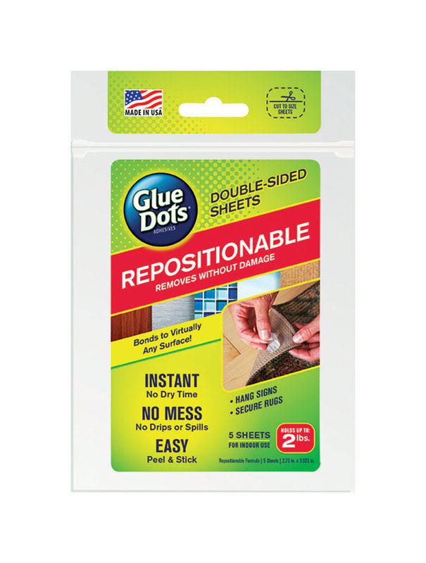 Glue Dots Double Sided Sheet - Repositionable, 5pcs
