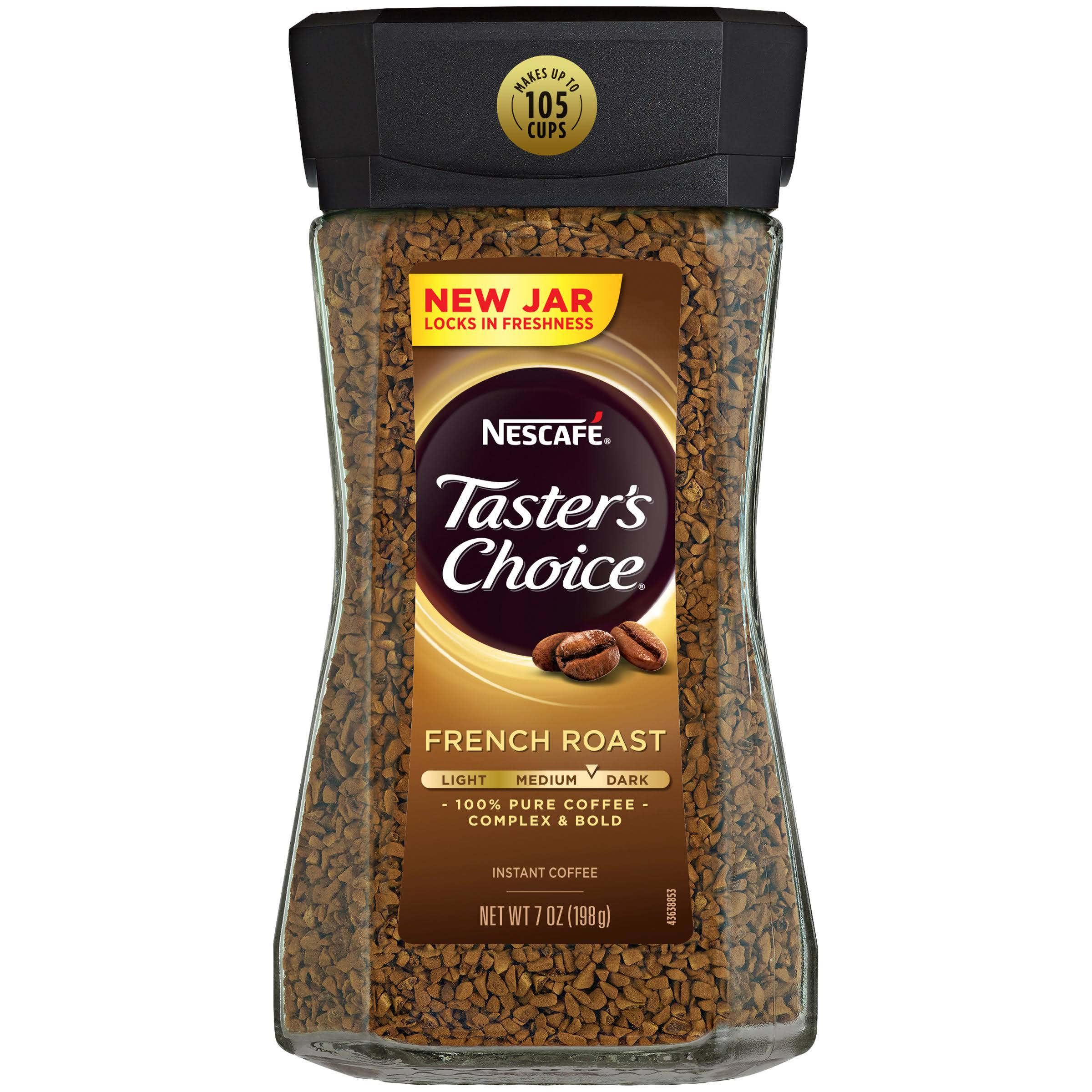 Nescafe Taster's Choice Instant Coffee - French Roast, 7oz