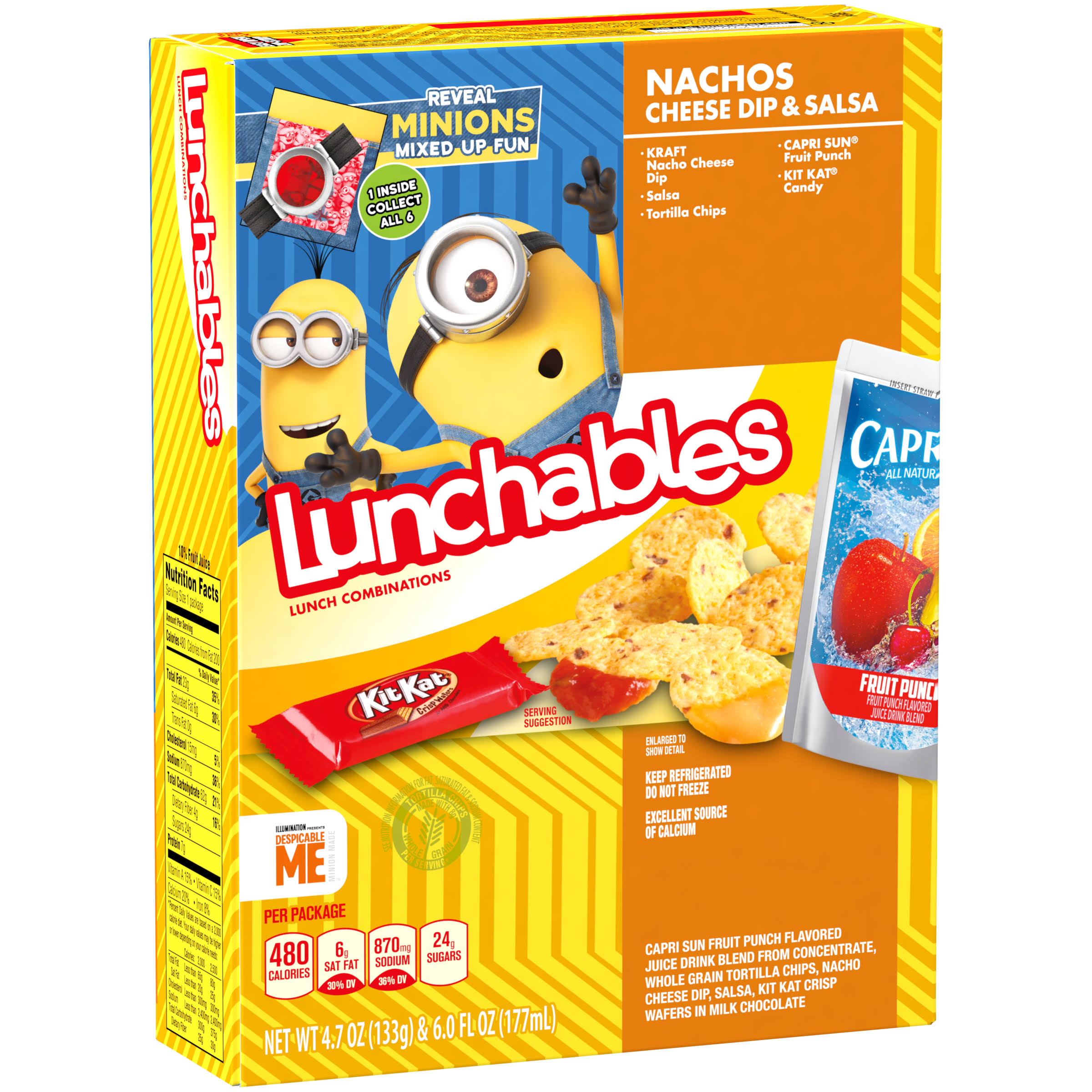 Lunchables Lunch Combinations Nachos Cheese Dip & Salsa - 133g