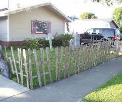 Halloween Cemetery Fence by Halloween Fence From Pallets 5 Steps With Pictures