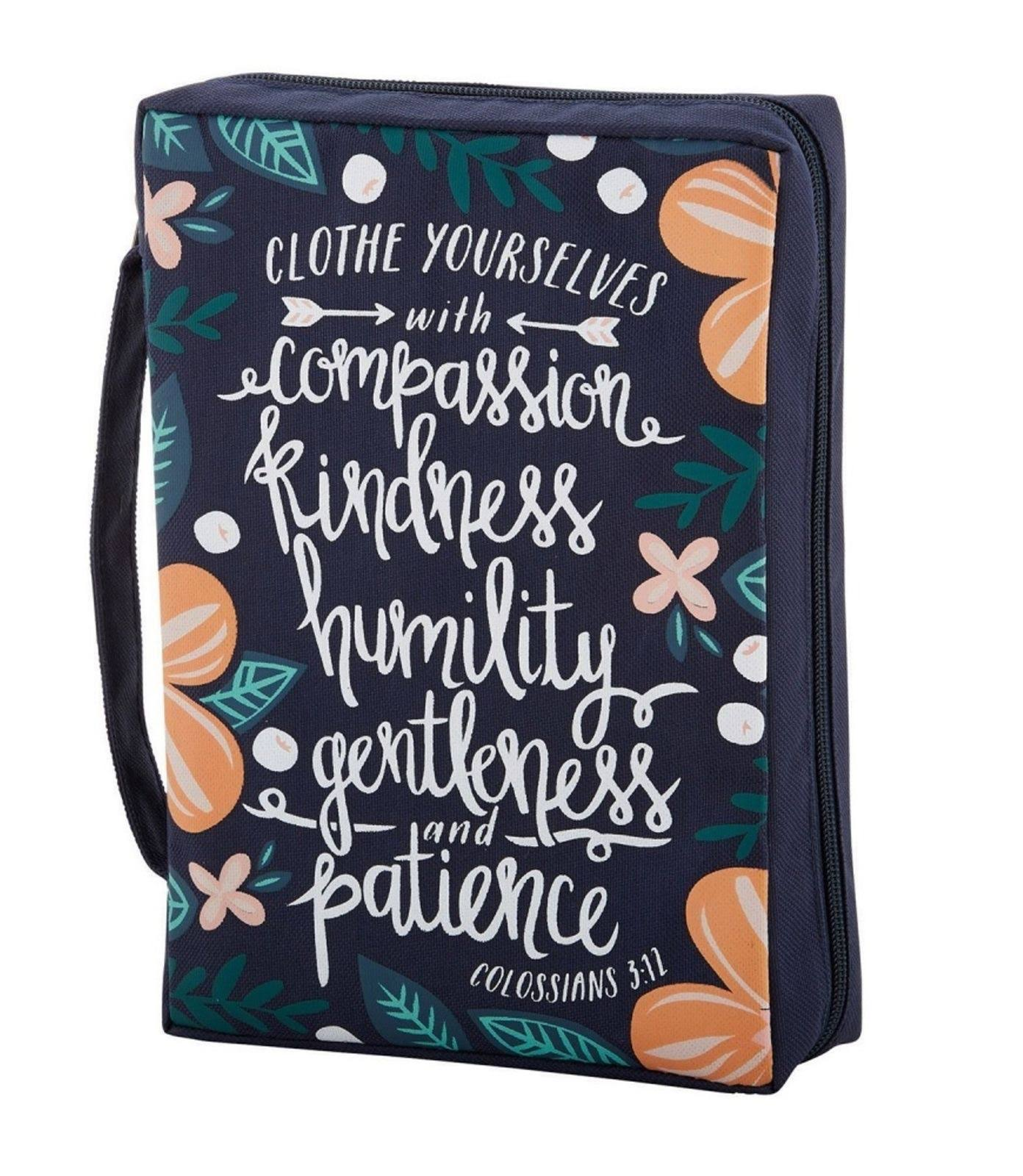 Faithworks Bible Cover - Clothe Yourselves With Compassion, Large