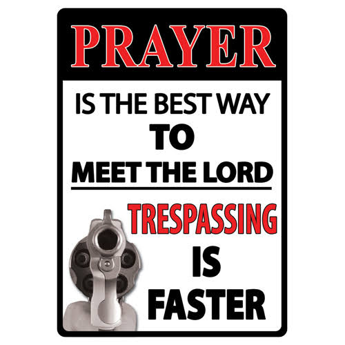 Rivers Edge Products Prayer Is The Best Way Tin Sign
