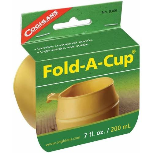 Coghlan's Fold-A-Cup, Yellow, 7 oz
