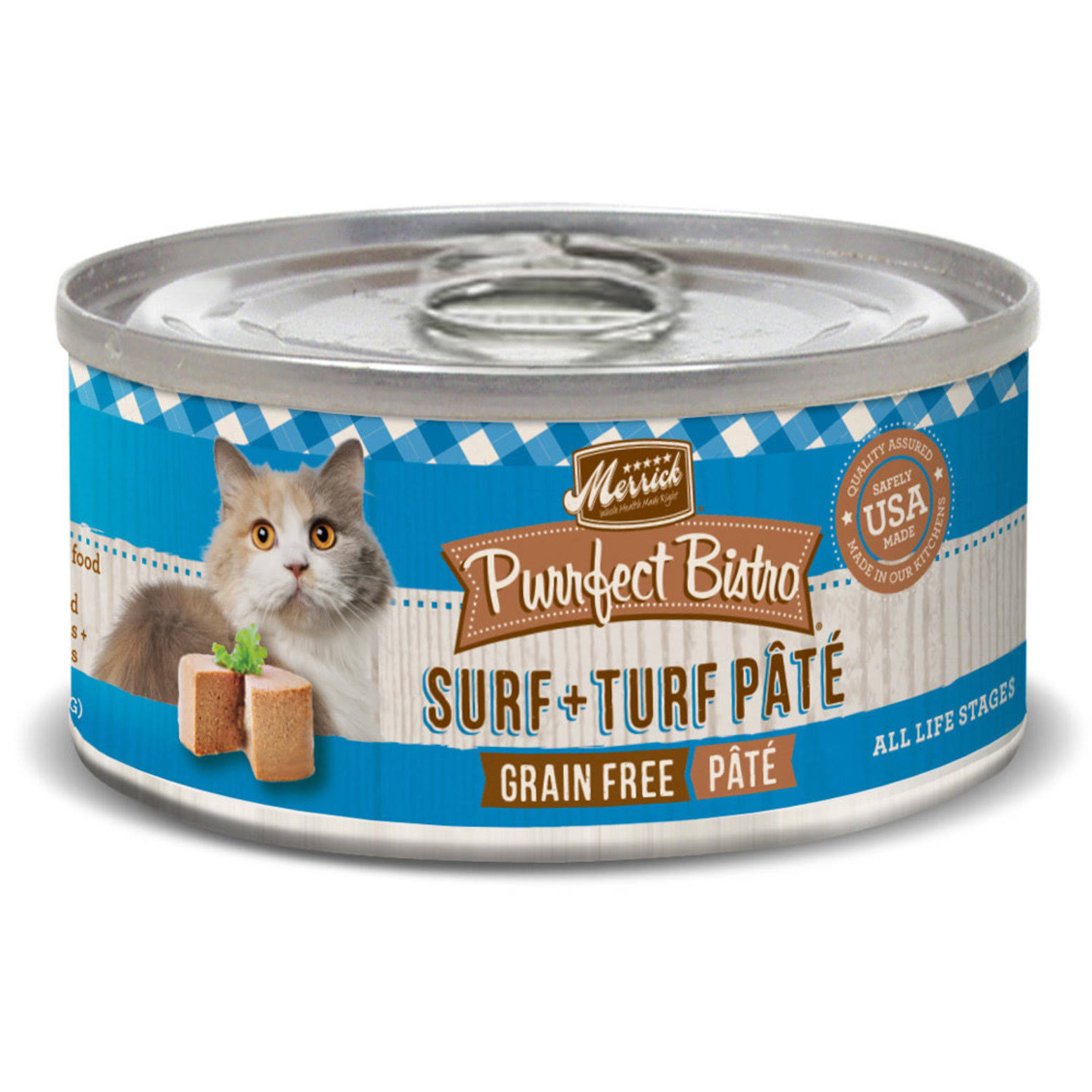 Merrick Purrfect Bistro Grain Free Surf & Turf Pate Canned Cat Food