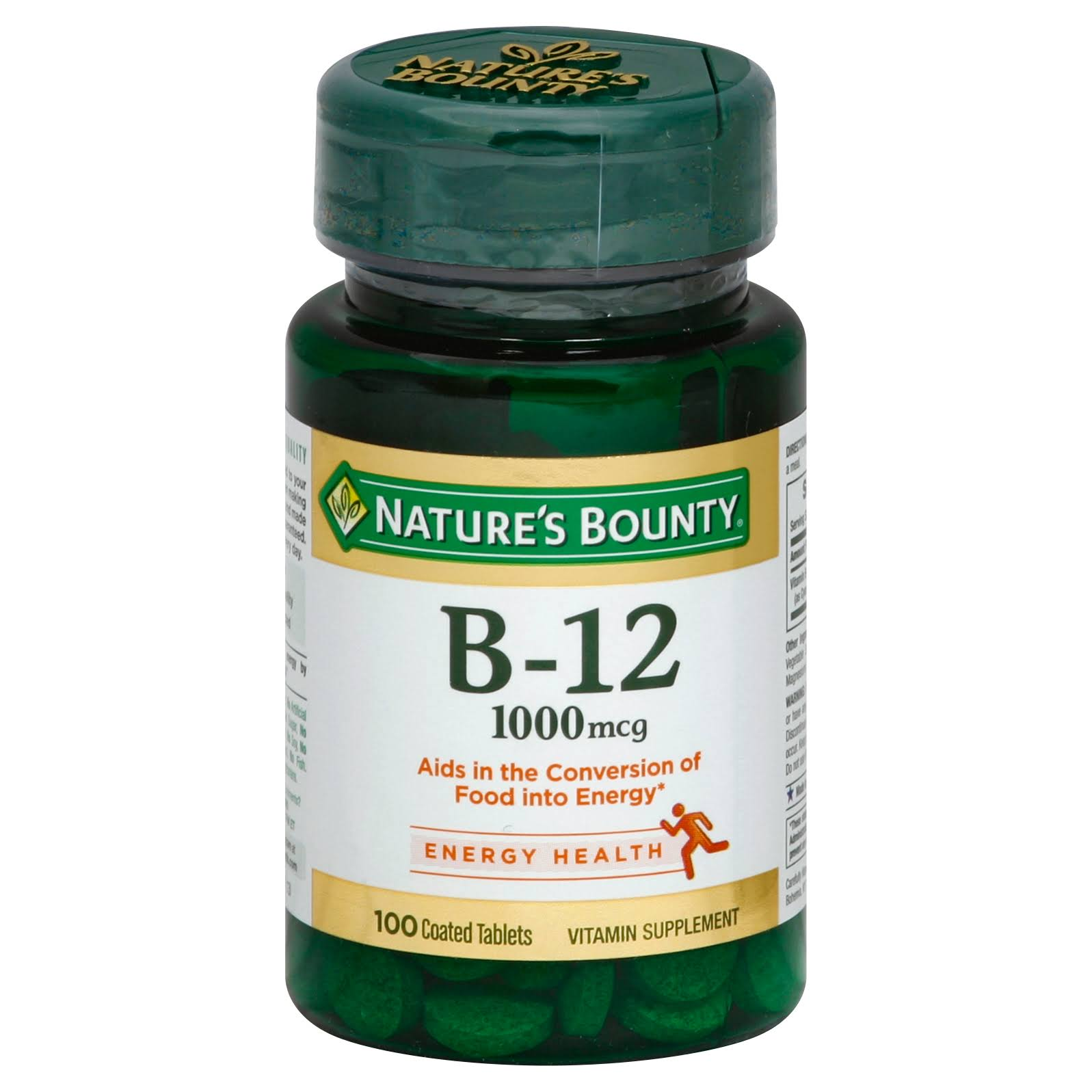 Nature's Bounty Natural Vitamin B12 Supplement - 100 Tablets