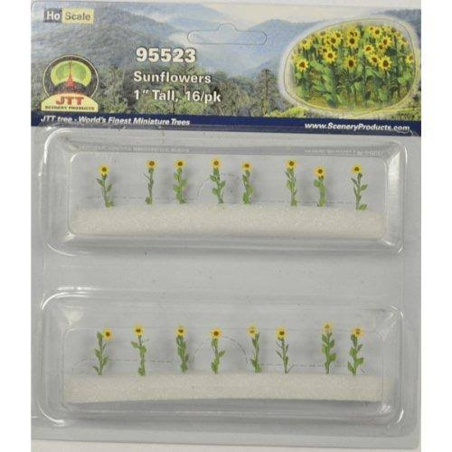 JTT Scenery Products Flowering Plants Series HO Scale - Sunflowers, 1""