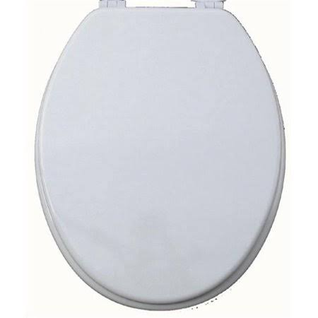 Elongate Molded Wood Toilet Seat - White