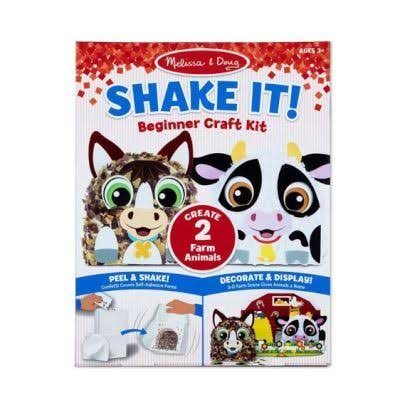 Melissa & Doug - Shake It! Farm Animals Beginner Craft Kit