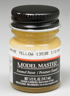 Testors Model Master Enamel Paint - Chrome Yellow, 1/2oz