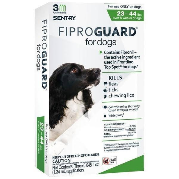 Sentry Fiproguard Topical Flea and Tick Protection for Dogs - 44lb