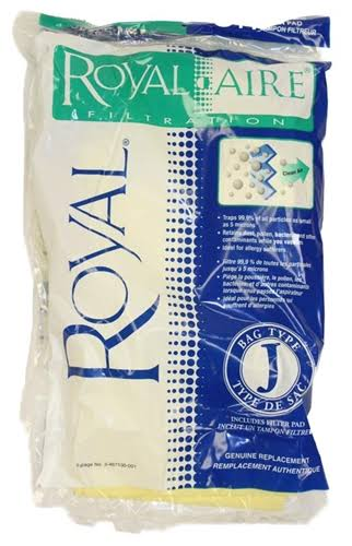 Royal Genuine J Bags (Pack of 3) & 1 Filter 3467130001