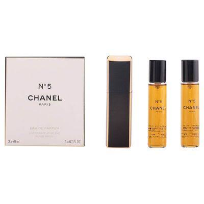 Chanel No.5 Parfum Spray & 2 Refills - 3 x 20ml