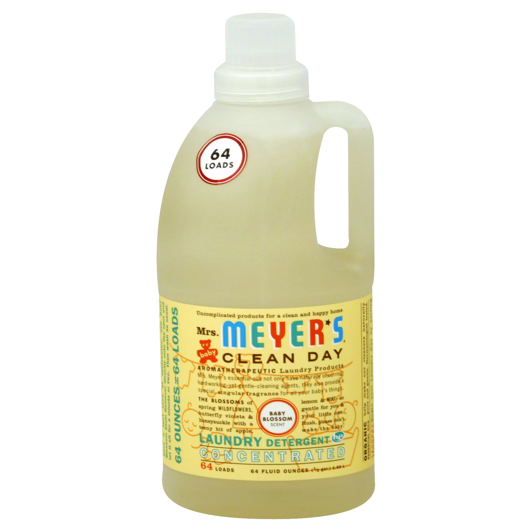 Mrs Meyers Clean Day Baby Blossom Laundry Detergent - 64 Oz