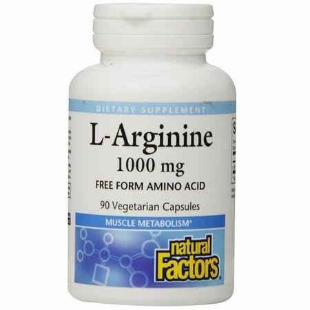 Natural Factors L-Arginine - 1000 mg, 90 Vcaps