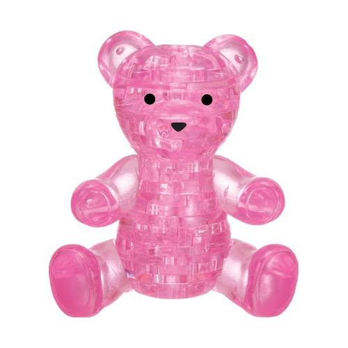 Bepuzzled 3D Crystal Puzzle - Teddy Bear Pink 41 Pcs