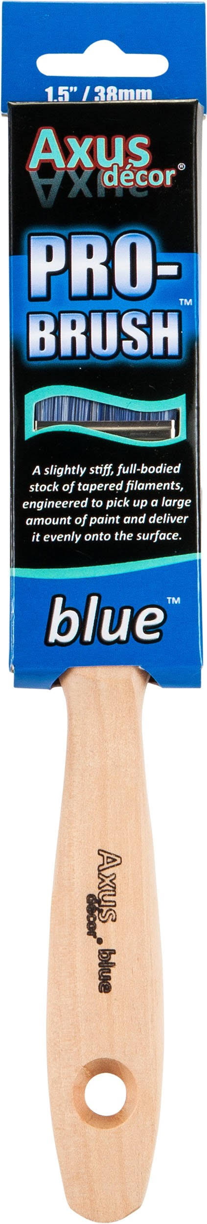 Axus Decor AXU BB15 Pro Paint Brush - Blue, 1.5""