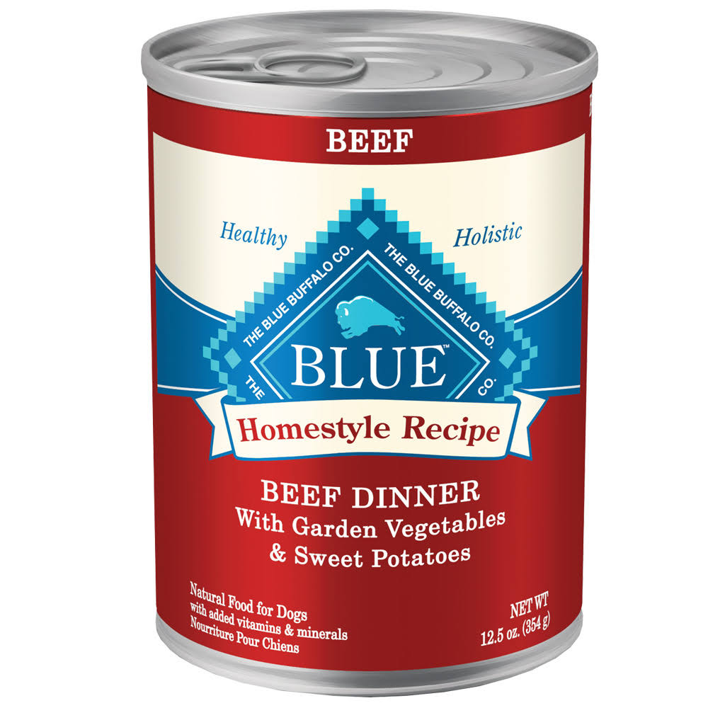 Blue Buffalo Homestyle Beef Dinner Canned Dog Food - 12.5oz