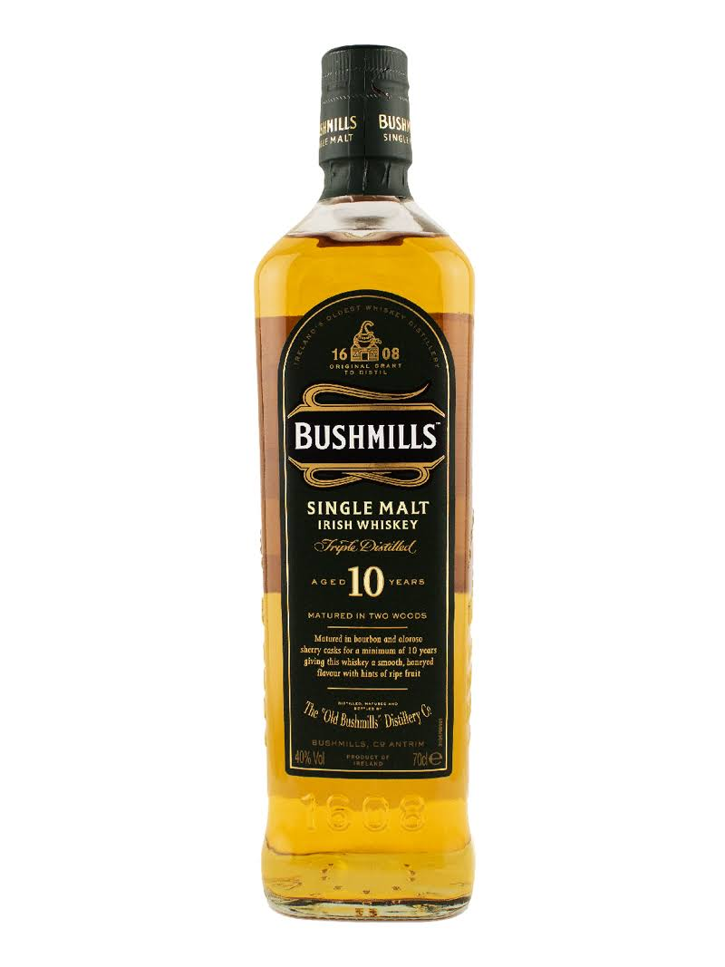 Bushmills Single Malt Irish Whisky - 10 Years, 700ml