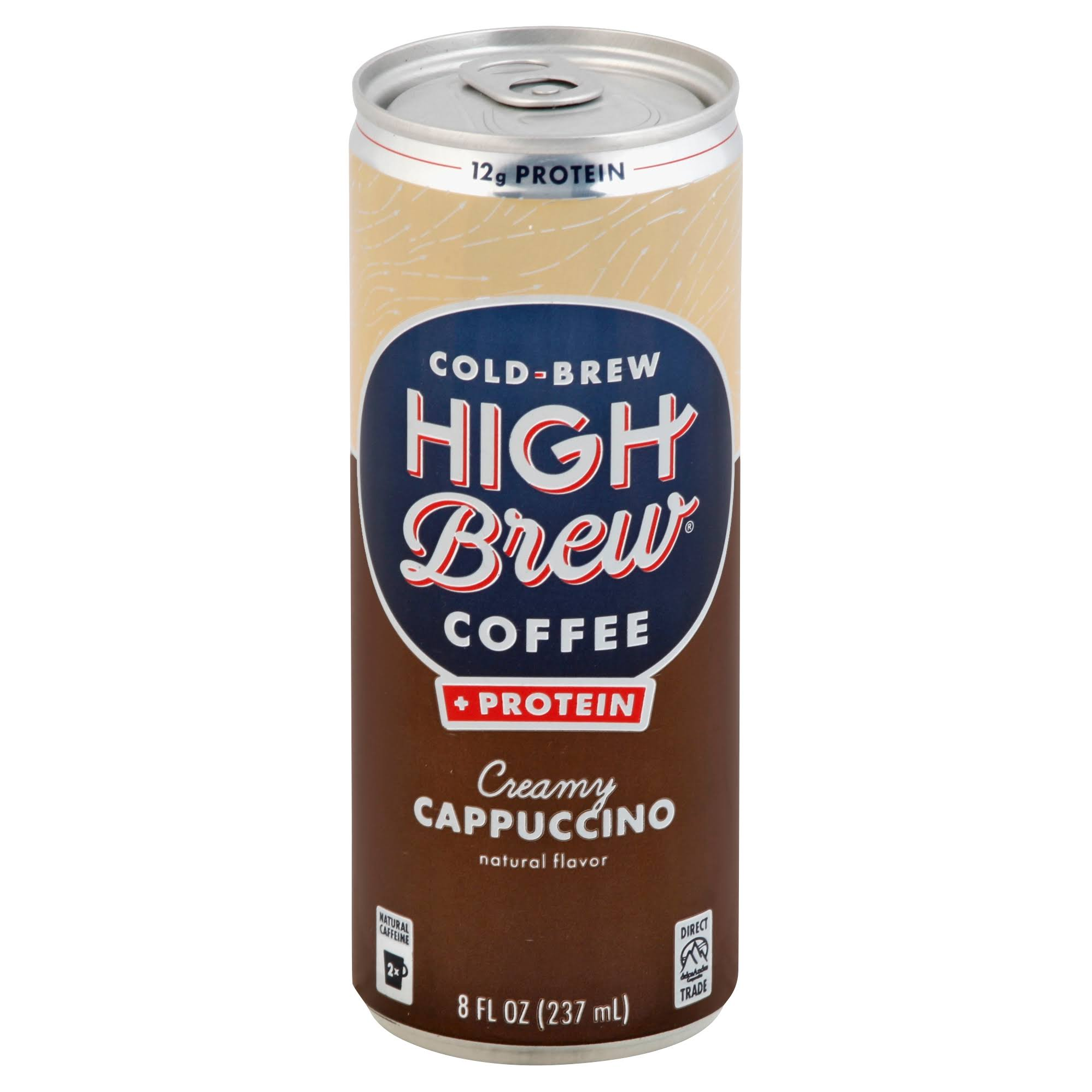 High Brew Coffee, Creamy Cappuccino - 8 fl oz can