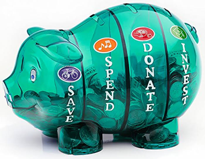 Money Savvy Generation Slotted Pig Coin Bank - Green