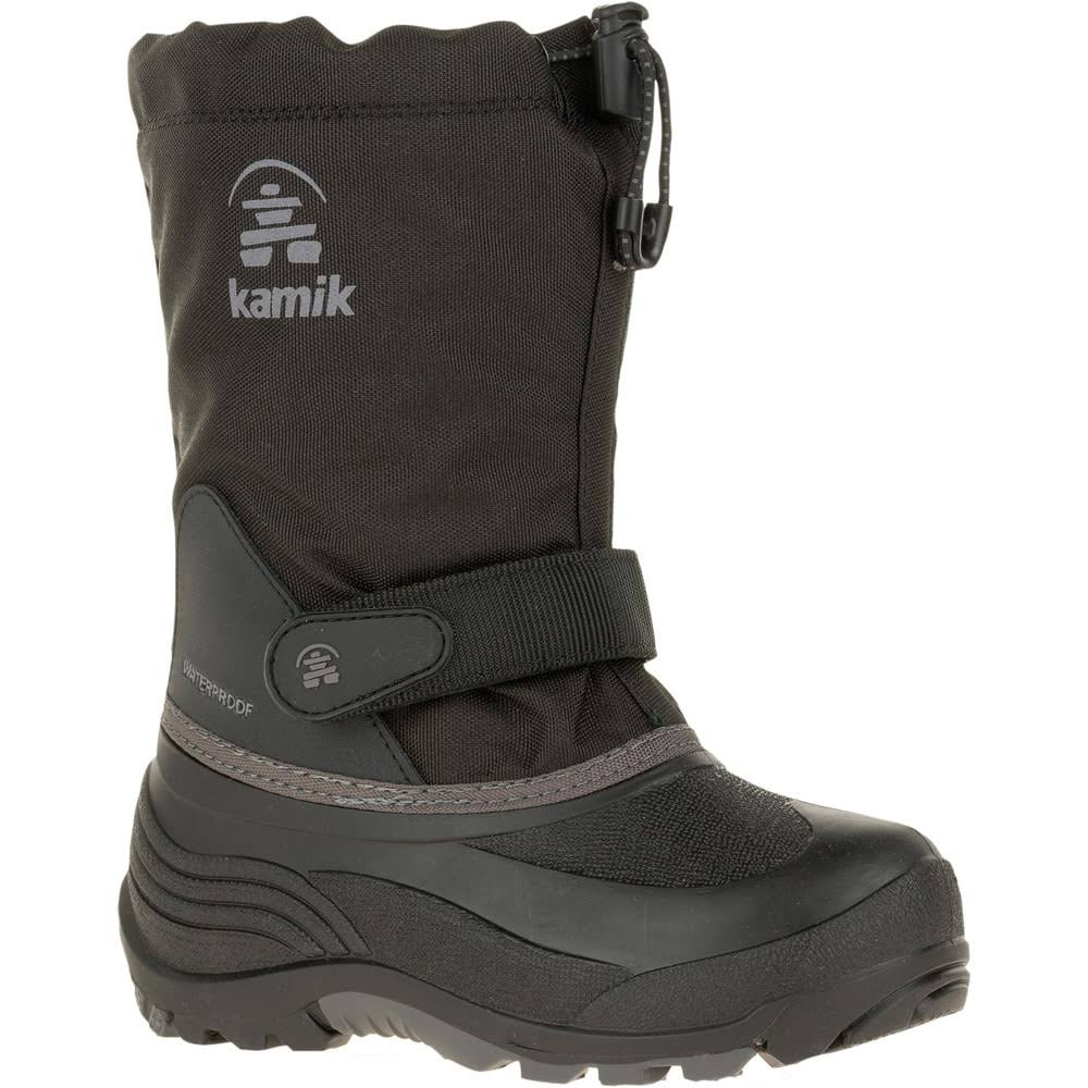 Kamik Kids Waterbug 5 Snow Boots - Black/Charcoal, 2 US Little Kid