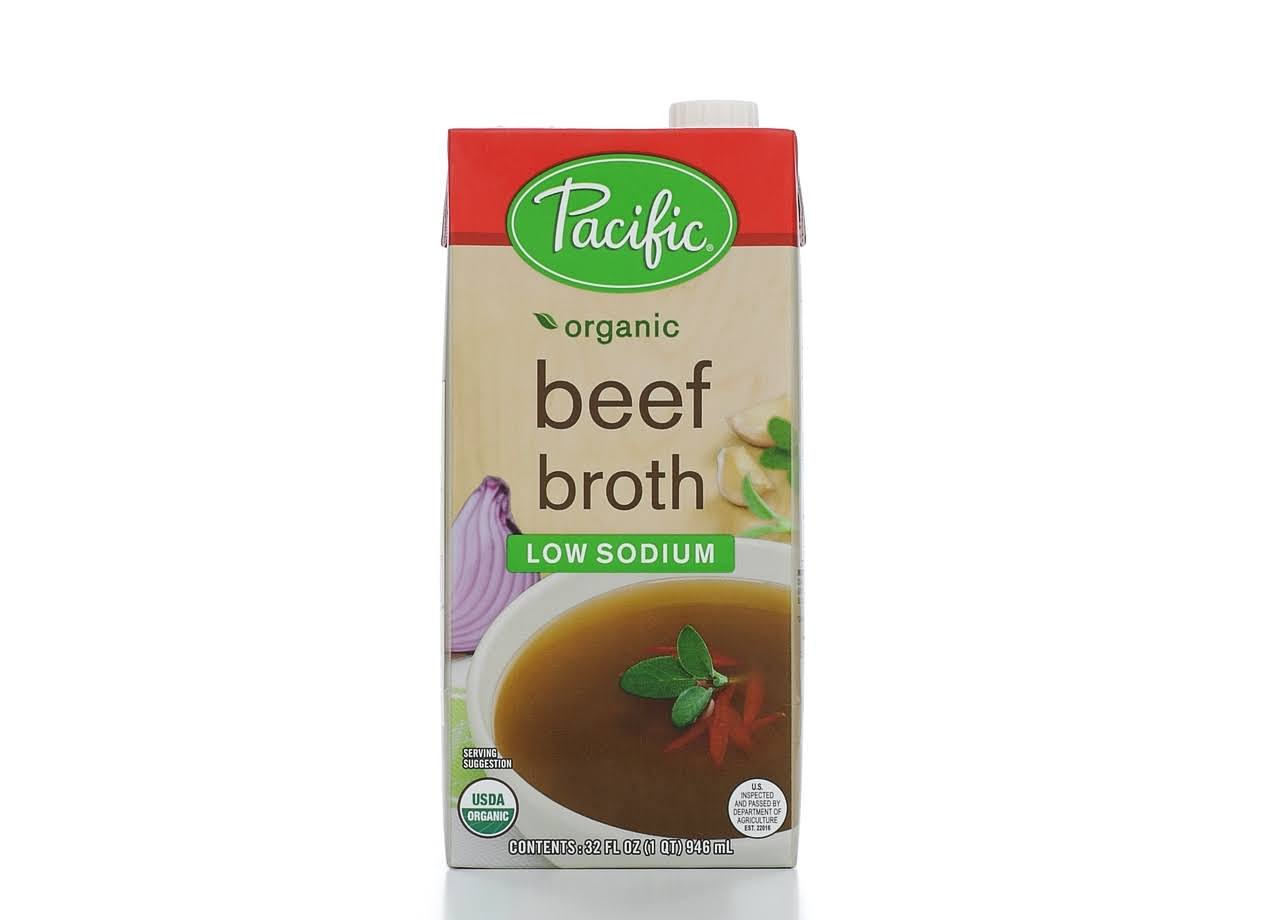Pacific Natural Foods Organic Low Sodium Beef Broth - 946ml