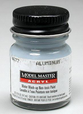Model Master Acrylic Paint - Aluminum, 14.7ml