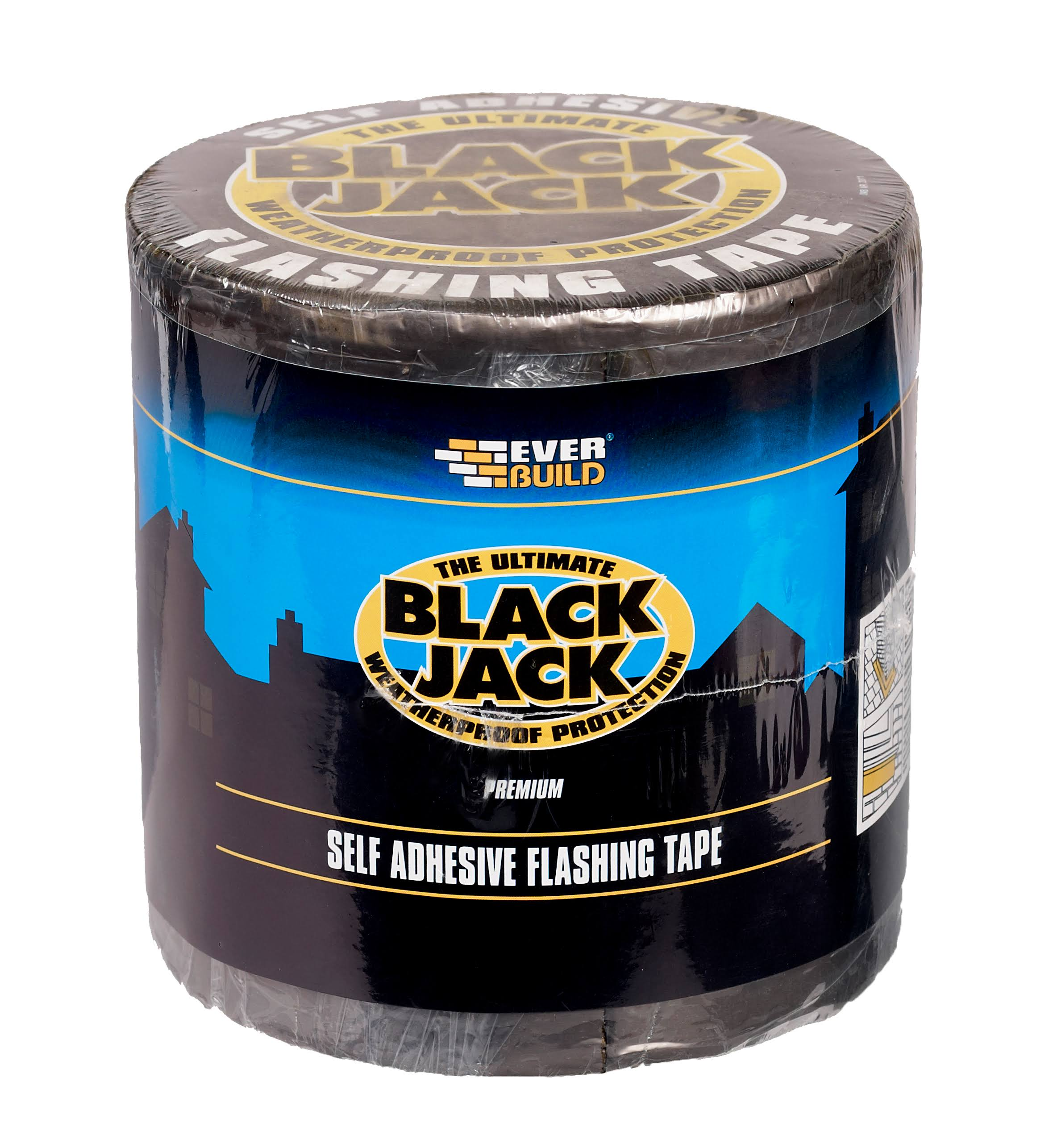 Everbuild Black Jack Self Adhesive Premium Flashing Tape - 100mm x 10m