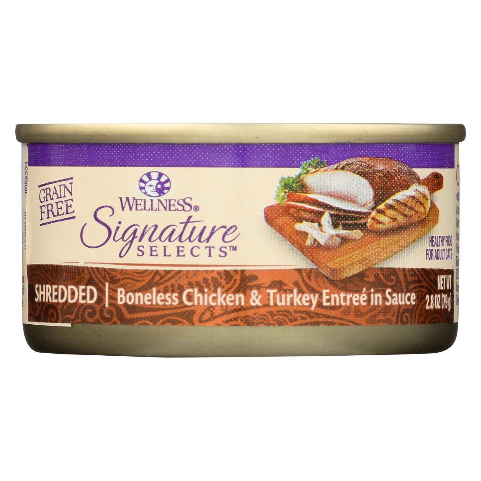 Wellness Signature Selects Grain Free Wet Cat Food - Chicken and Turkey, 2.8oz