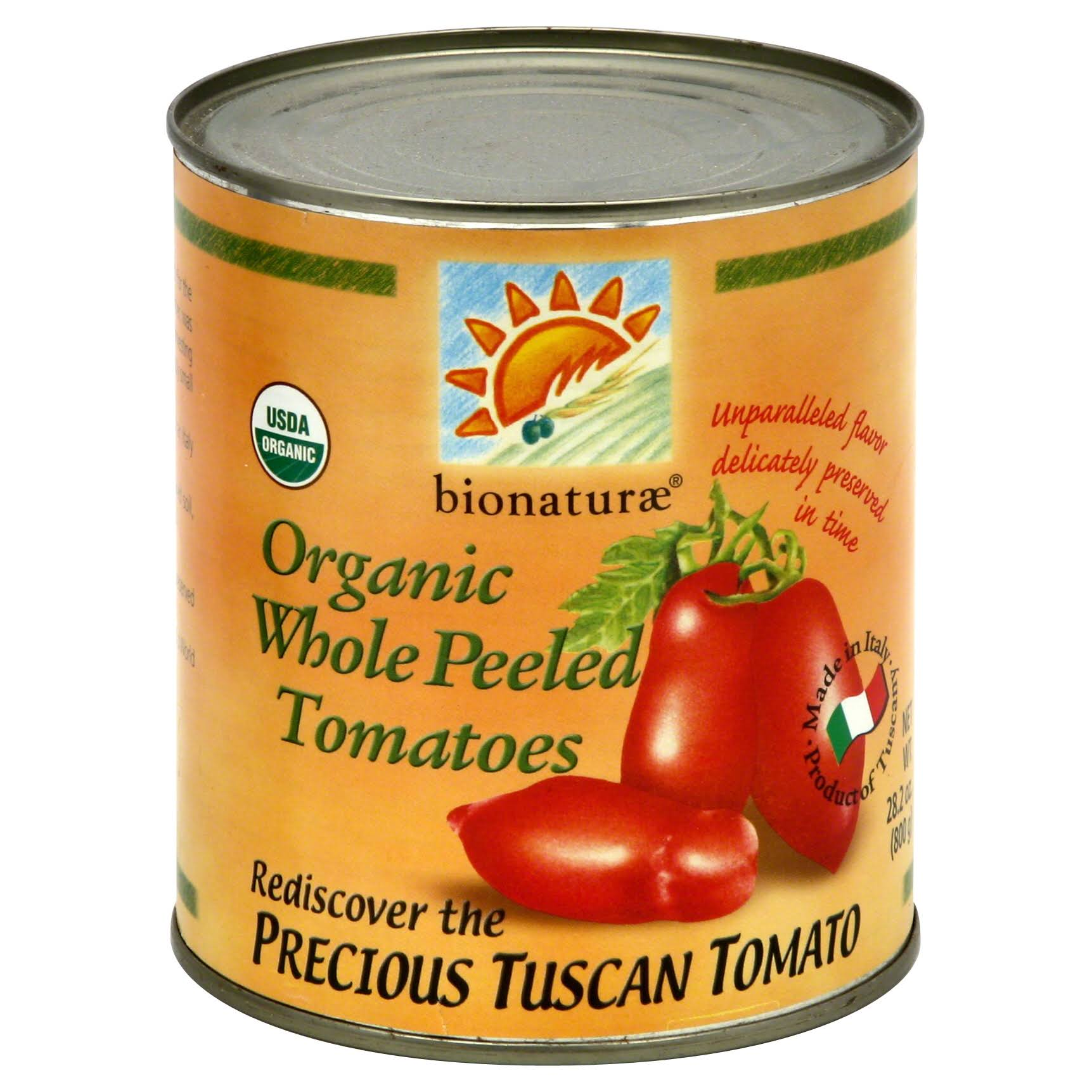 bionaturae Tomatoes, Organic Whole Peeled - 28.2 oz