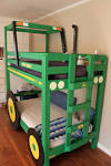Bedroom Tractor Unique Bunk Beds He Just Built For The Boys 2014 ... - Awesome Bunk Beds